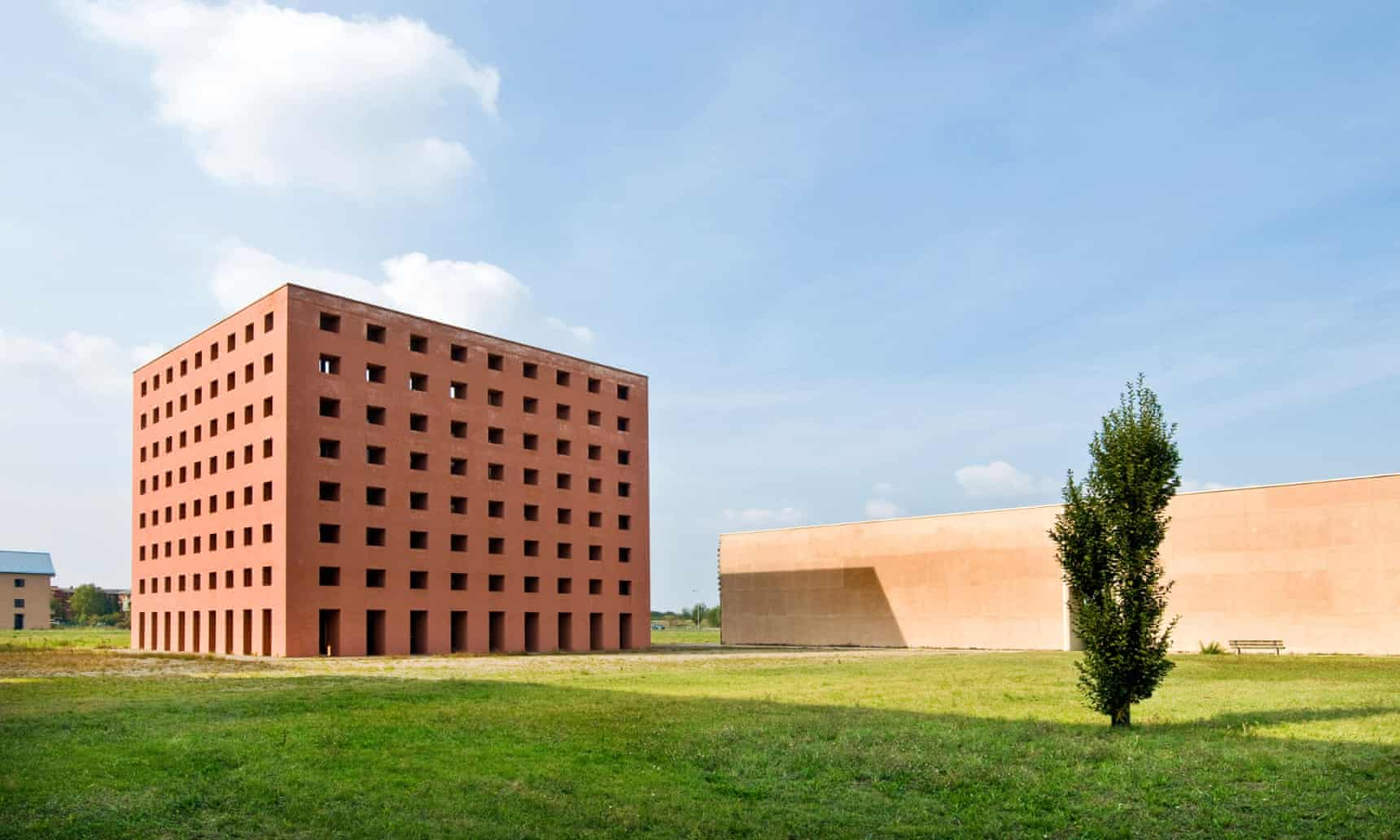 Architect Aldo Rossi's striking San Cataldo cemetery in Modena, Italy.