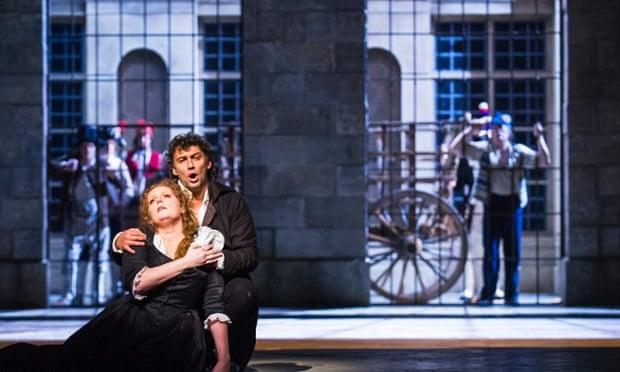 Eva-Marie Westbroek (Maddalena de Coigny) and Jonas Kaufmann (Andrea Chenier) in Andrea Chenier by Umberto Giordano, Royal Opera House, January 2015.
