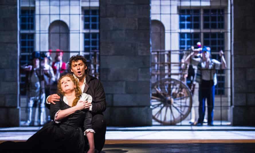 Eva-Maria Westbroek (Maddalena de Coigny) and Jonas Kaufmann (Andrea Chénier) in Andrea Chénier by Umberto Giordano, Royal Opera House, January 2015.
