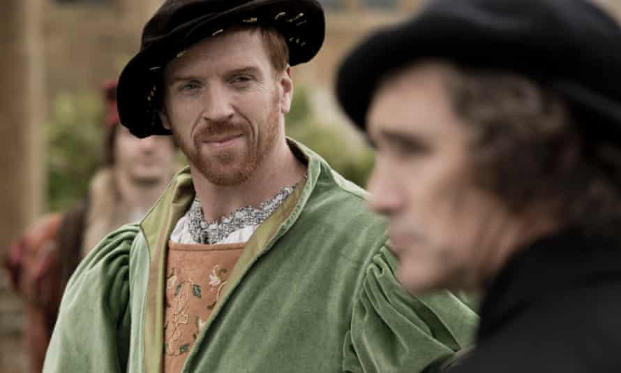 Damian Lewis as Henry VIII with Mark Rylance as Thomas Cromwell in Wolf Hall.