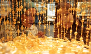 Women shopping for gold