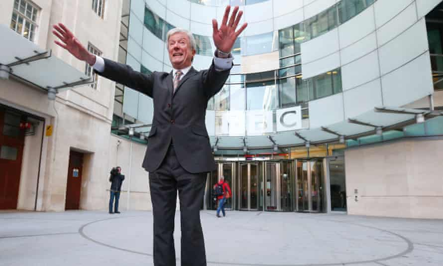 BBC director general Tony Hall outside New Broadcasting House in central London.