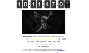Pirate Bay countdown