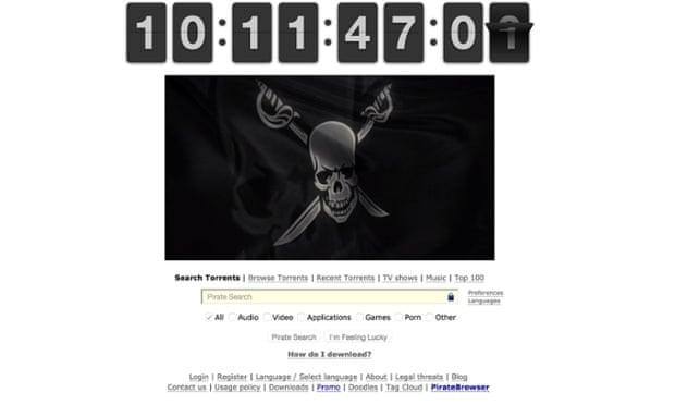 Pirate Bay countdown