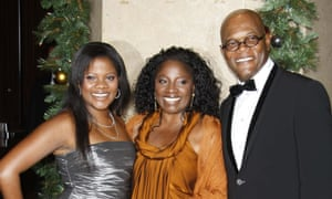 Samuel L Jackson with his wife LaTanya Richardson and daughter Zoe