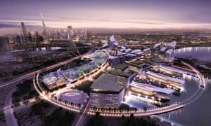An artist's impression of the proposed Dubai Design District