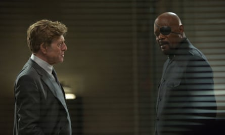 Screen test: in Captain America with Robert Redford.