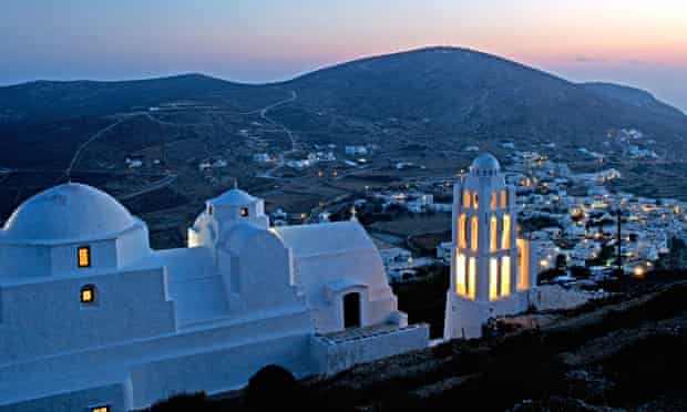 Whitewashed church on Folegandros