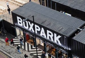 Boxpark in Shoreditch, East London.