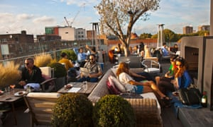 The Boundary rooftop cafe in Shoreditch.