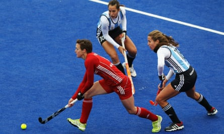 Hannah Macleod in action for Great Britain.