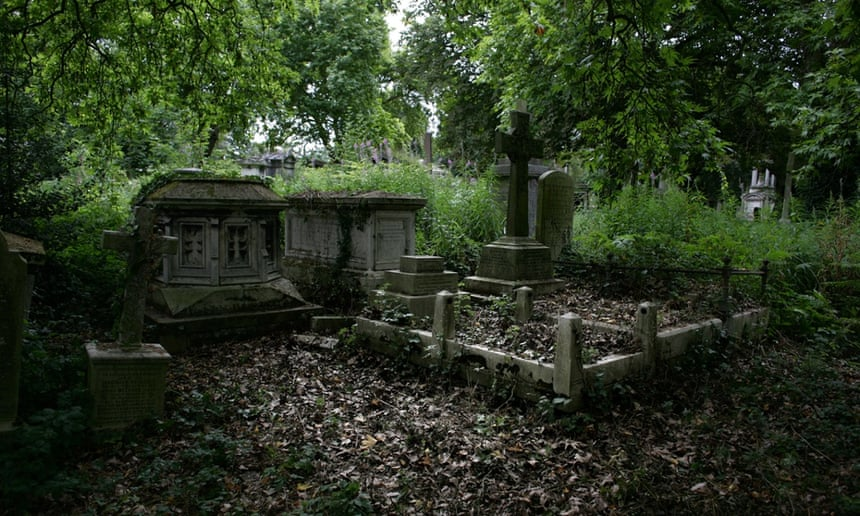 Kensal Green cemetery, London.