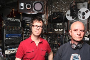 Ben Folds, left, and novelist Nick Hornby collaborated on the album Lonely Avenue in 2010.