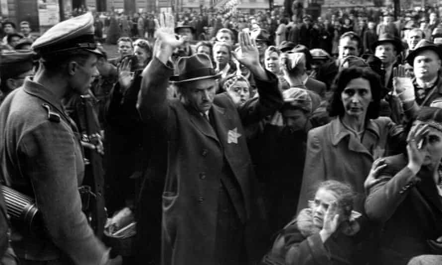 Deportation of Jews in Budapest in 1944.