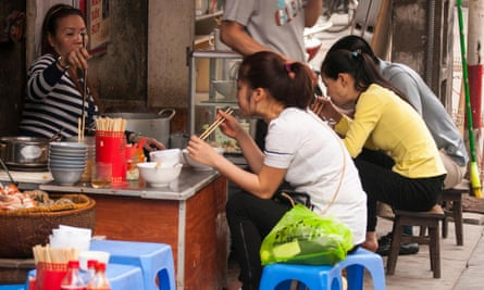 A street-food restaurant in Hanoi's Old Quarter.