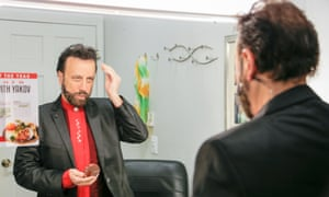 Yakov Smirnoff prepares to go on stage