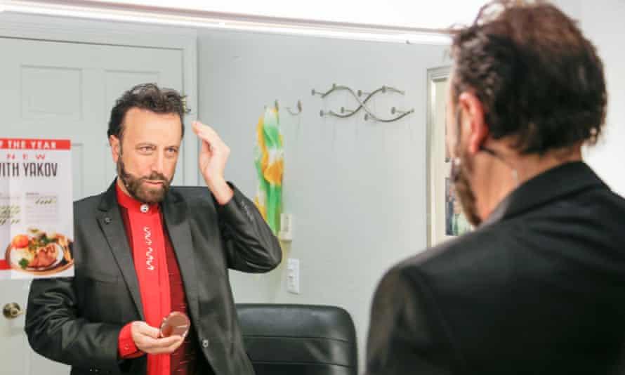 Yakov Smirnoff prepares to go on stage