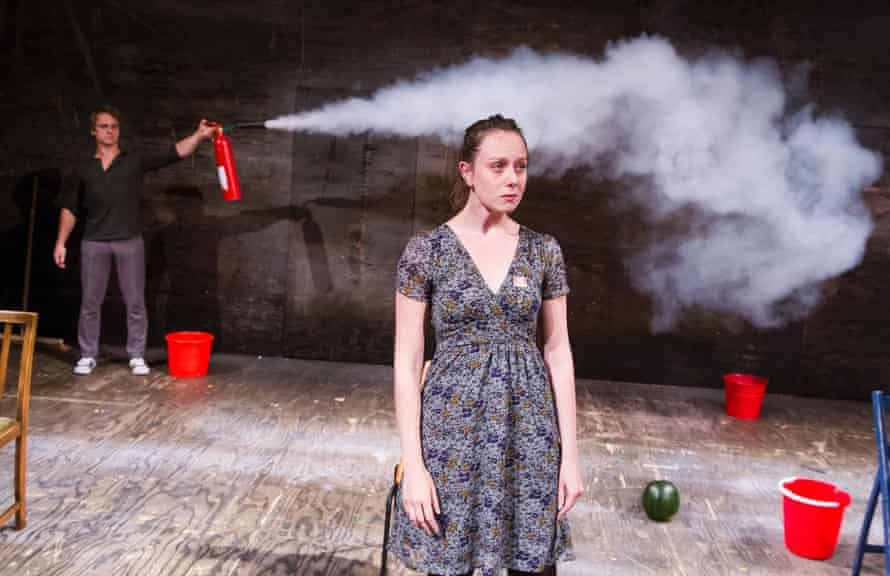 Robert Boulter and  Scarlett Brookes in the RSC's Revolt, She Said. Revolt Again by Alice Birch.