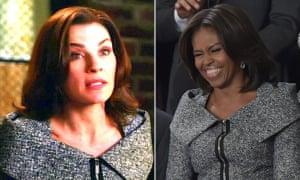 9f3ec27289 Michelle Obama v Alicia Florrick: who copied whom? | Fashion | The ...