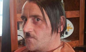 Pegida leader Lutz Bachmann styled as Adolf Hitler