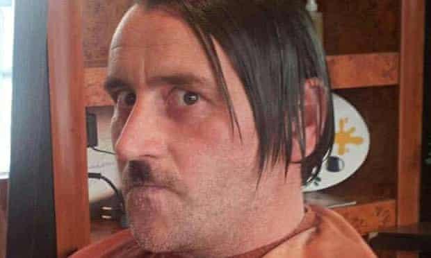 Pegida leader Lutz Bachmann styled as Adolf Hitler