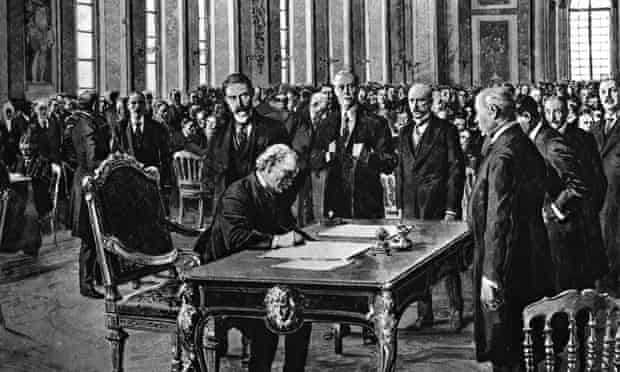 Versailles treaty signing