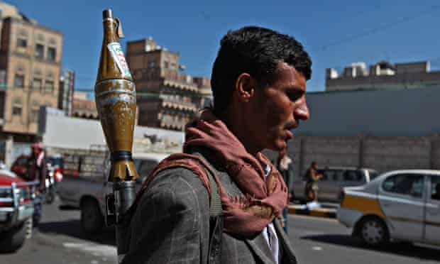 Houthi fighters in Sanaa