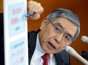 Bank of Japan governor Haruhiko Kuroda has vowed to head off a return to deflation.