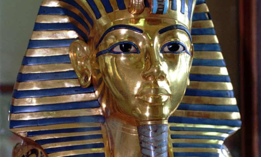 The mask of King Tutankhamun at the Egyptian Museum in Cairo.