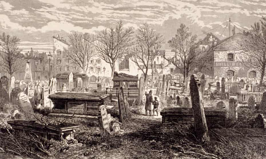 Cemetery at Bunhill Fields, Finsbury, London, 1866.