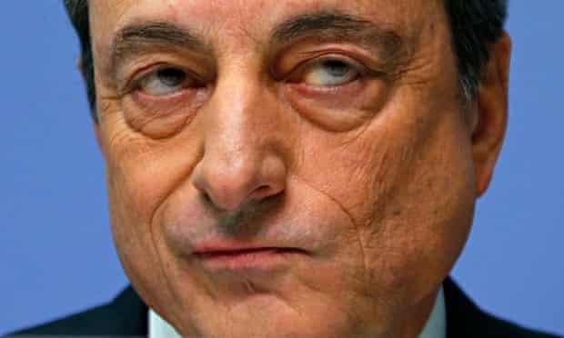 European Central Bank (ECB) president Mario Draghi addresses an ECB news conference in Frankfurt