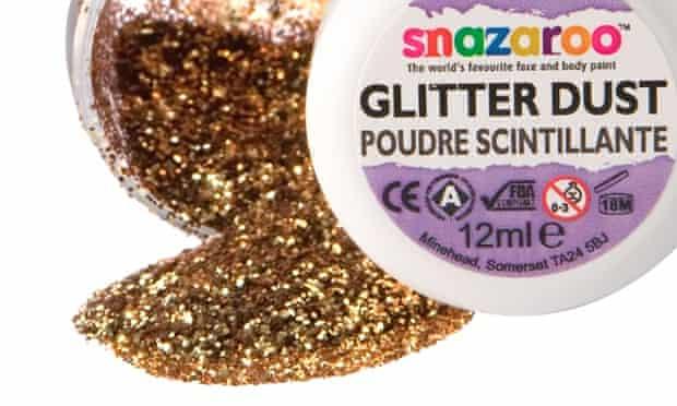 Glitter dust pot spill