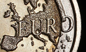 The map of Europe on a euro coin