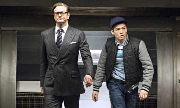 Colin Firth and Taron Egerton in Kingsman