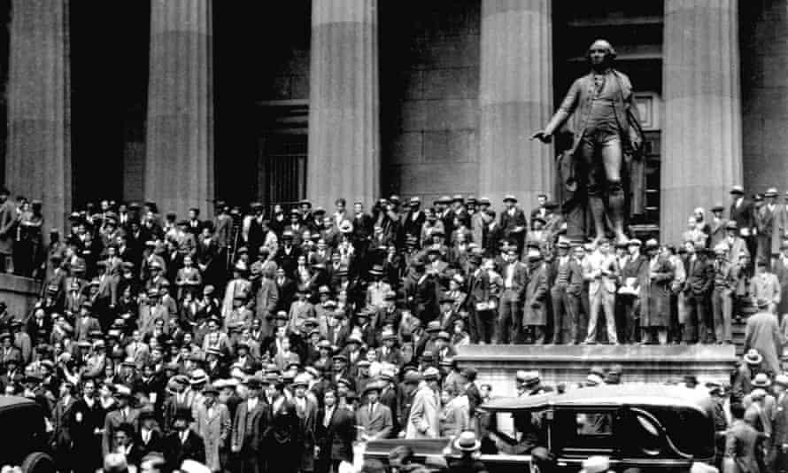 New York, Black Thursday, October 1929.