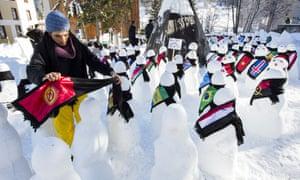 Snow men at davos
