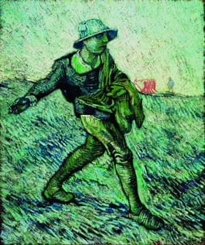 Van Gogh's The Sower (after Jean-François Millet), 1890.