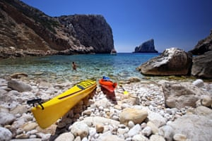 Cala d'Inferno, Alghero, a short drive from Monte Sixeri.
