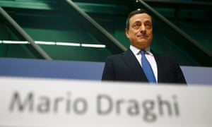 European Central Bank President Mario Draghi unveils the QE plan.