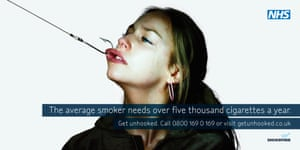 A Department of Health poster - anti smoking advertisement.