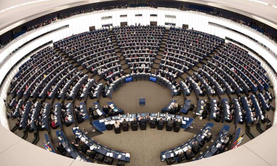 Members of the EU Parliament take part in a voting session, on December 17, 2014 during a session of the European Parliament in Strasbourg, eastern France.