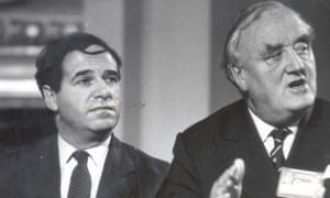 Leon Brittan, left, with the man he succeeded as home secretary in 1983, William Whitelaw.