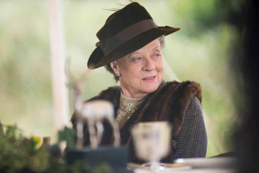 Maggie Smith as the Dowager Countess in Downton Abbey, 2012.