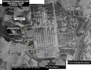 Aerial view of Auschwitz-Birkenau