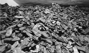Pile of boots at Auschwitz concentration camp.