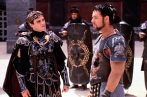 Phoenix with Russell Crowe in Gladiator.