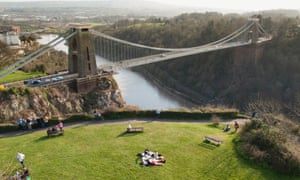 Gorgeous gorge … the Clifton Suspension Bridge, which spans the Avon gorge, Bristol.