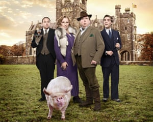 TV series Blandings, based on PG Wodehouse's books, with the Empress up front.