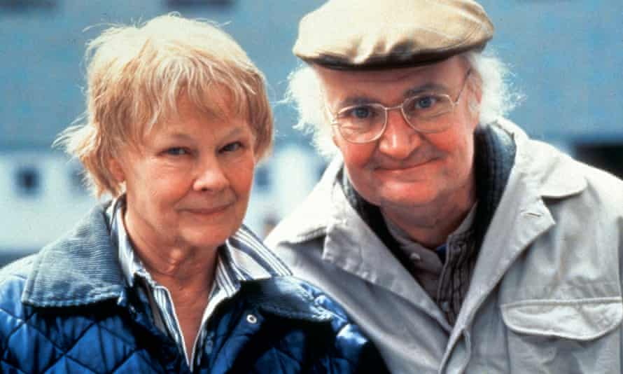 Jim Broadbent as John Bayley, with Judi Dench as Iris Murdoch in Iris, the 2001 film of his memoir.