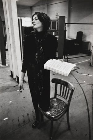 Maggie Smith rehearsing the title role in Hedda Gabler for Ingmar Bergman in 1970.